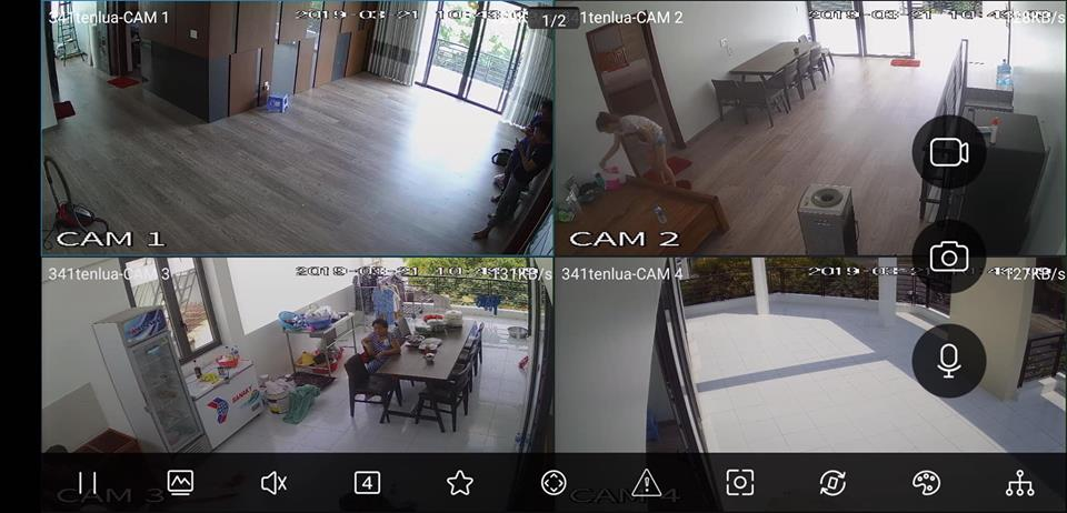 Công trình lắp đặt camera tại nhà Quận 10, TPHCM. Khách hàng yêu cầu lắp đặt camera 4.0MP quan sát khu vực cửa trước, nhà xe, sân thượngt