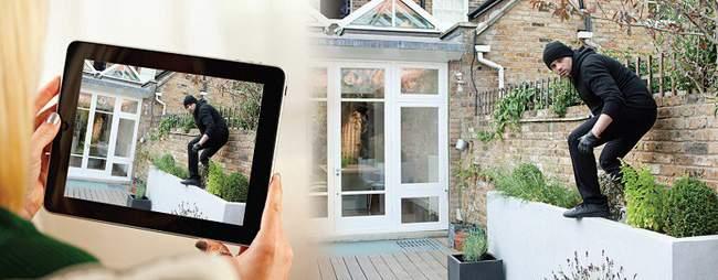 camera wifi tích họp báo động chống trộm