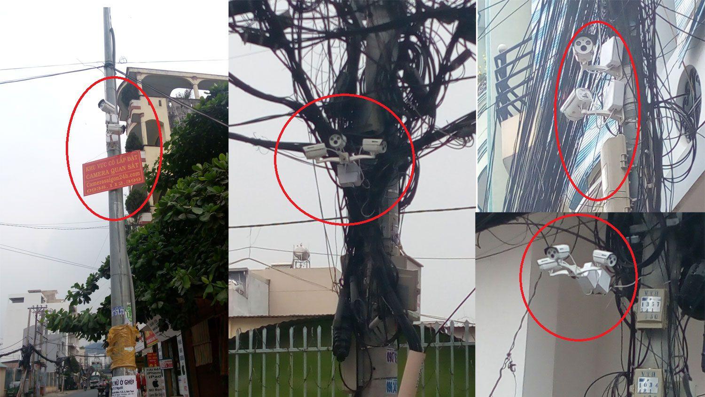 hình ảnh lắp đặt camera quan sát tại khi phố 6 phường 22 quận bình thạnh