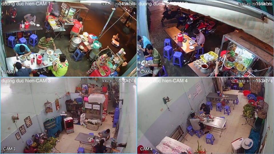 Lắp đặt camera cửa hàng bán quán ăn bán shop bán thức ăn nhanh
