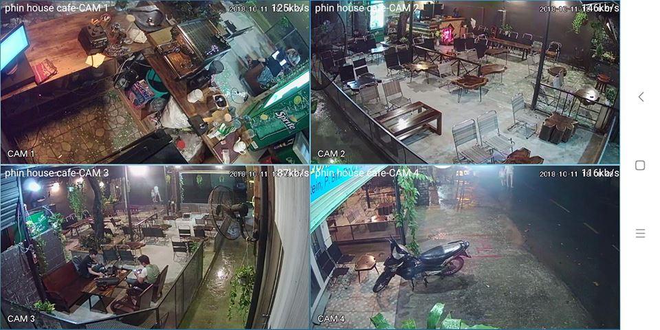 Lắp đặt camera cửa hàng quán coffee shop