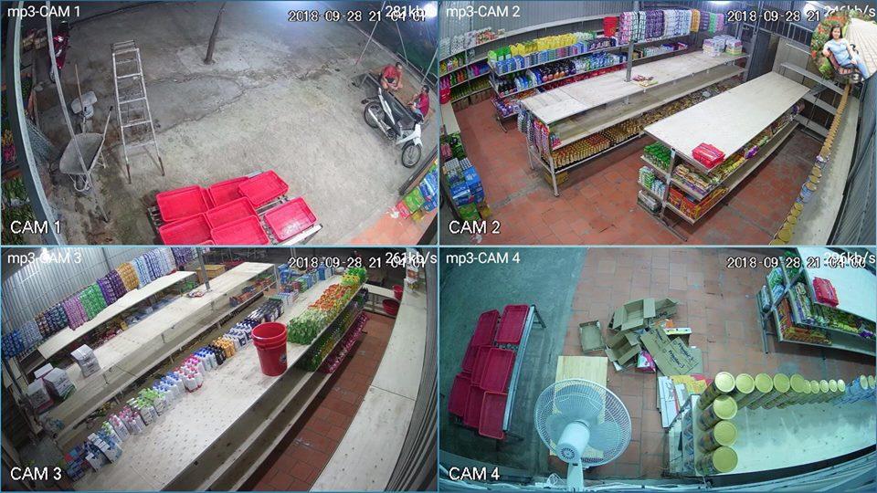 Lắp đặt camera quan sát cửa hàng bán Tạp Hóa
