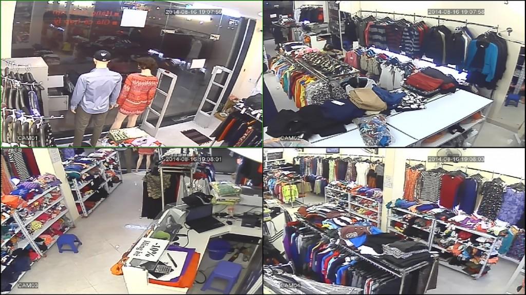 Lắp camera cửa hàng thời trang do công ty camera quận 8 cung cấp
