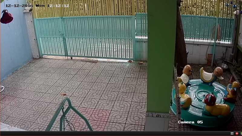 lắp đặt camera quan sát tại sân chơi của các trường mầm non