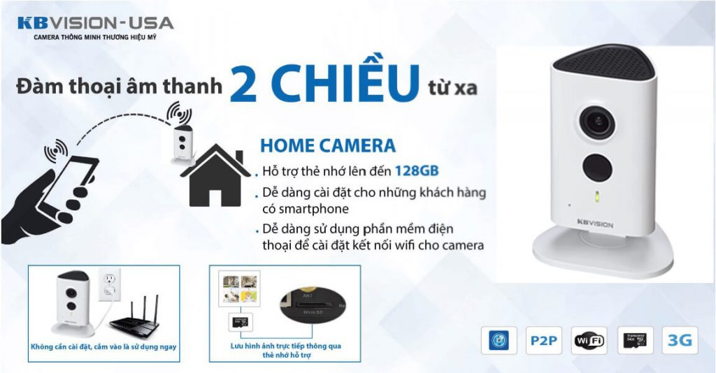 lắp đặt camera wifi cube kbvision
