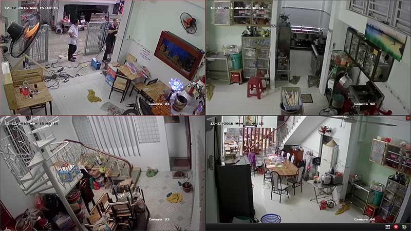 lắp đặt camera quan sát cho gia đình có kinh doanh