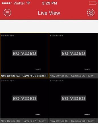 lỗi No video trên điện thoại khi xem camera hikvision