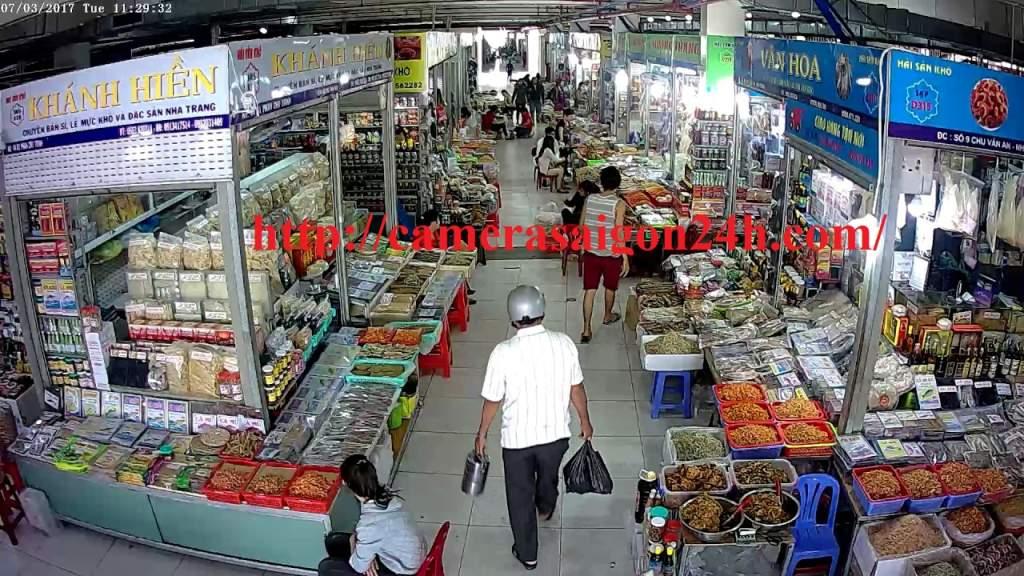 lắp đặt camera quan sát kbvision cho chợ