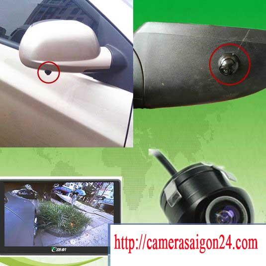 lắp đặt camera quan sát bên hong phải xe được hoàn thiện