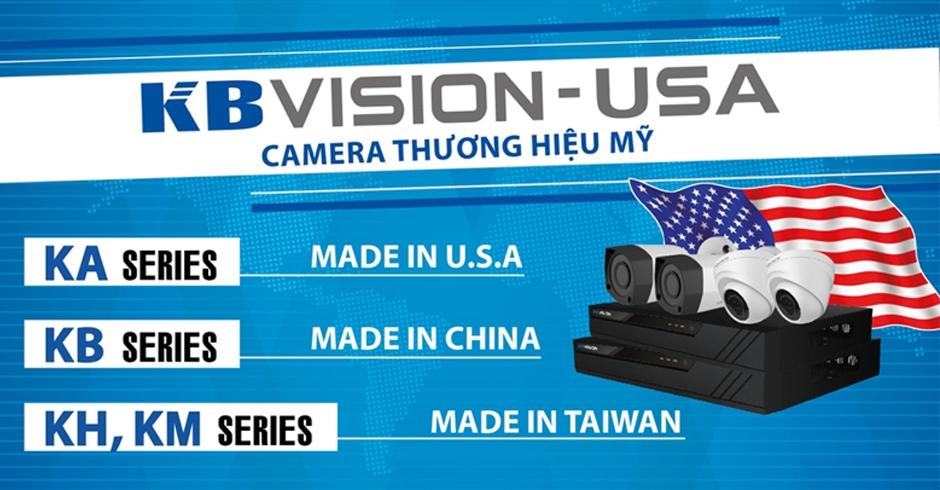 camera quan sát thương hiệu kbvision của mỹ chất lương tôt sản phẩm chính hãng