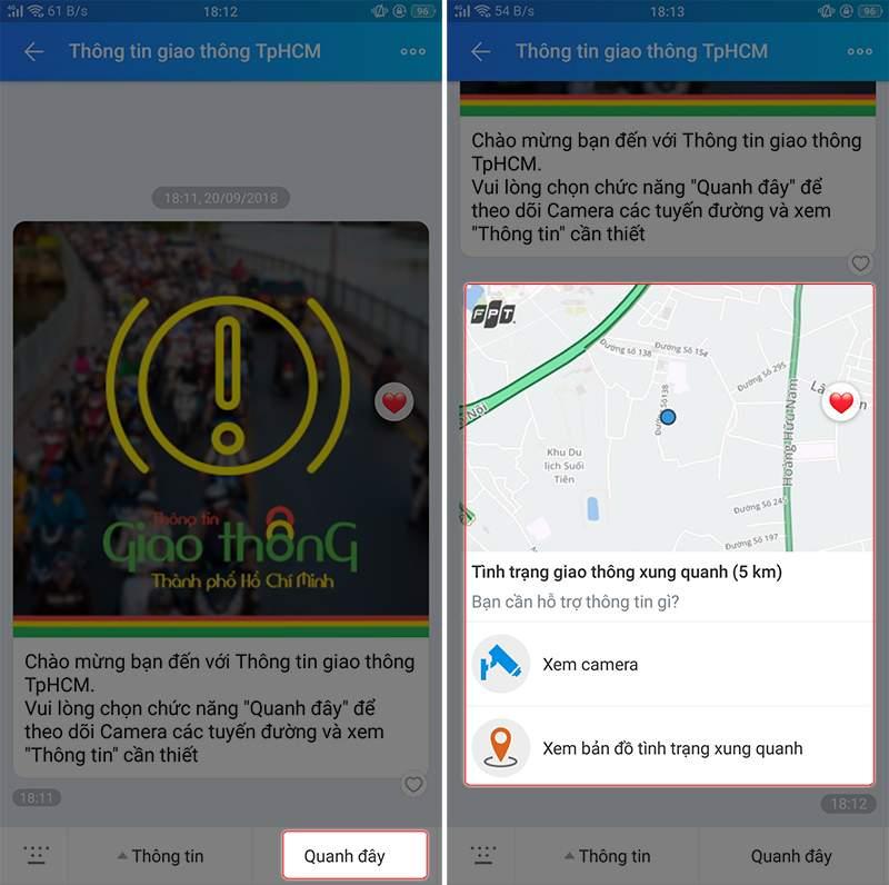 ứng dụng camera quan sát xem tình trạng giao thông ngập úng tại tphcm