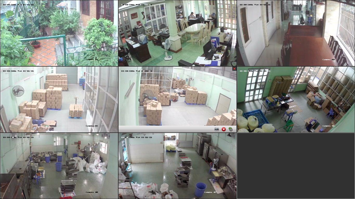 camera quan sát xưởng sản xuất công ty vĩnh nghiem
