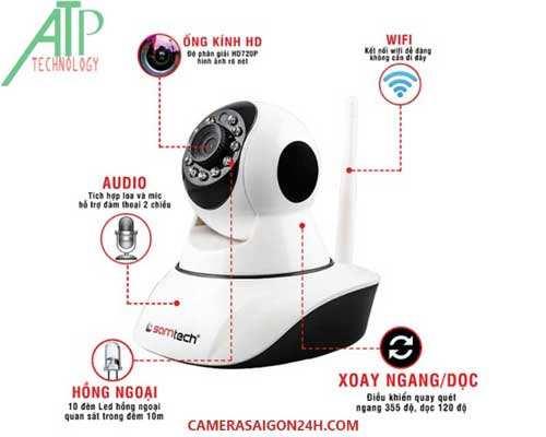 camera quan sát hỗ trợ wifi có khả năng quay quét 360 độ