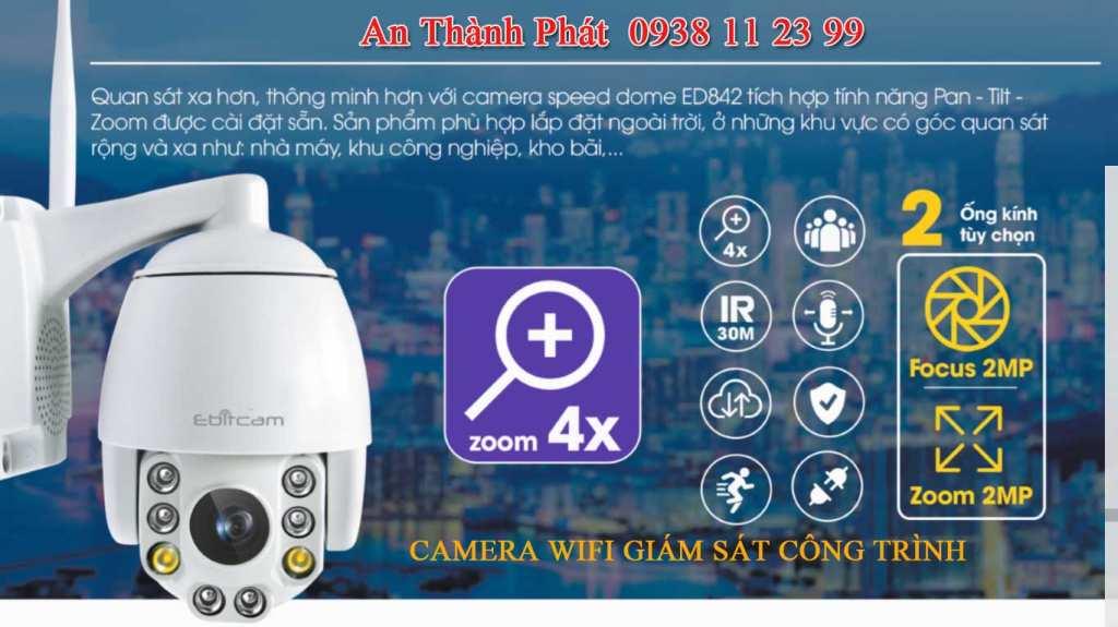 lắp camera giám sát Ebitcam wifi ED841