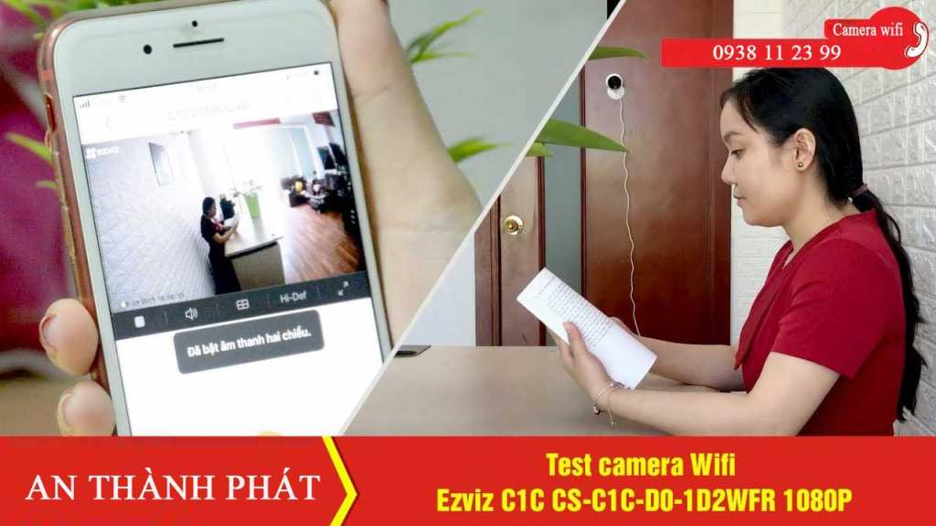 Camera IP wifi giám sát toàn cảnh Full HD, không dây CS-C1C-D0-1D2WFR  Camera Wifi Ezviz C1C CS-C1C-D0-1D2WFR 1080P tích hợp micro và loa - Hỗ trợ  Tích hợp tính năng cảnh báo và chụp hình chuyển động gửi đến điện thoại