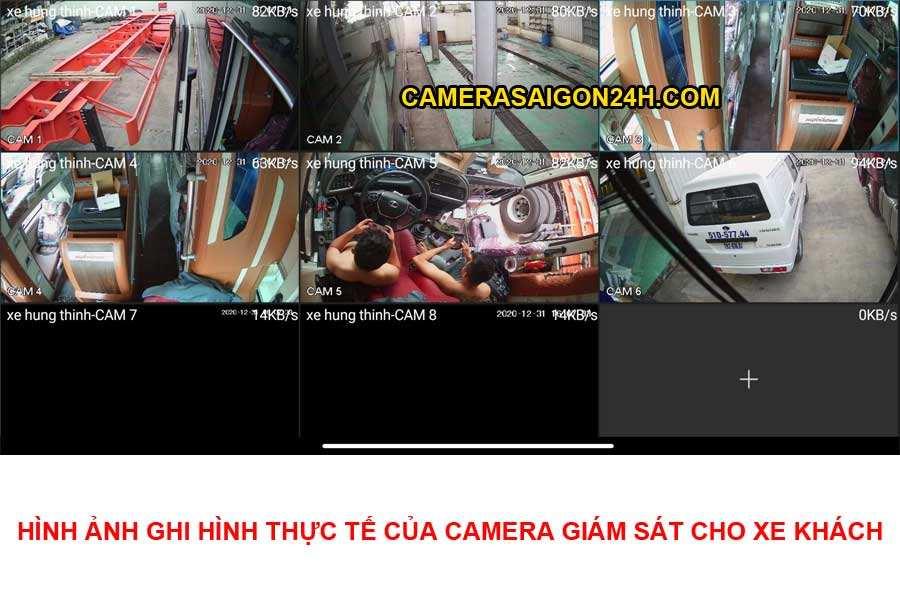 hình ảnh ghi hình thực tế camera giám sát xe khách