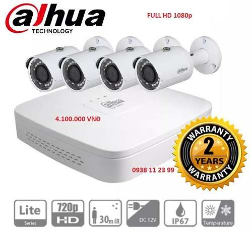 Lắp đặt camera quan sát Dahua trọn bộ giá rẻ cho gia đình cửa hàng