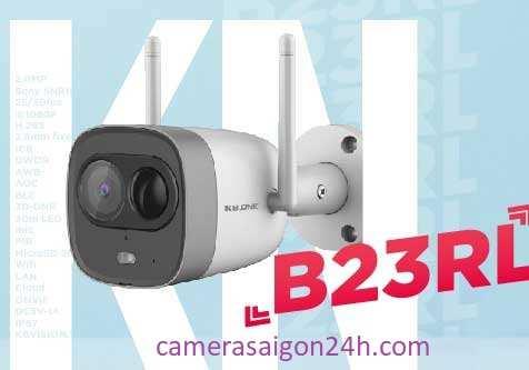 lắp camera wifi kbone KN B23 RL chất lượng hình ảnh sắt nét báo động chống trộm thông minh