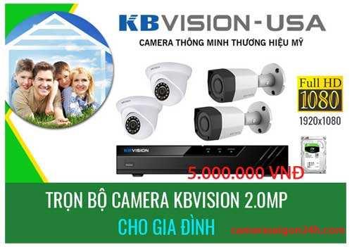Bộ camera giám sát gia đình chất lượng FULL HD 1080P