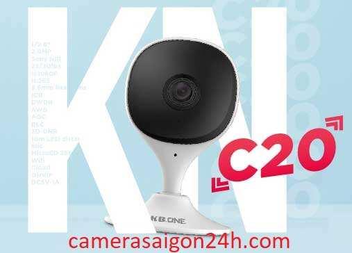 lắp camera wifi kbone KN C20 giá rẻ tiết kiệm chi phí hình ảnh FULL HD tích hợp thu âm giá rẻ