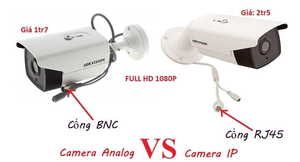 Giá camera quan sát hd analog và camera IP