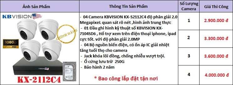 lắp camera quan sát thương hiệu kbvision chất lượng giá rẻ