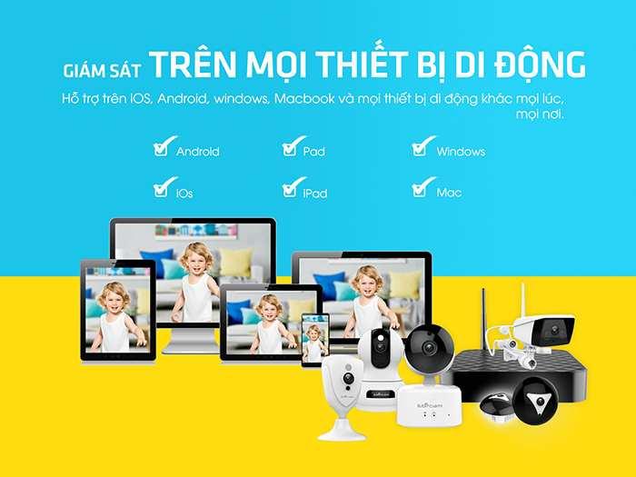 Camera IP Wifi Ebitcam EBF4 2.0MP Camera IP không dây Ebitcam Cube EBF4 2M Full HD 1080P, Đàm thoại, Góc rộng giá rẻ | Mua camera wifi tại