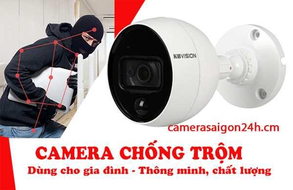 lắp camera kbvision báo động chống trộm