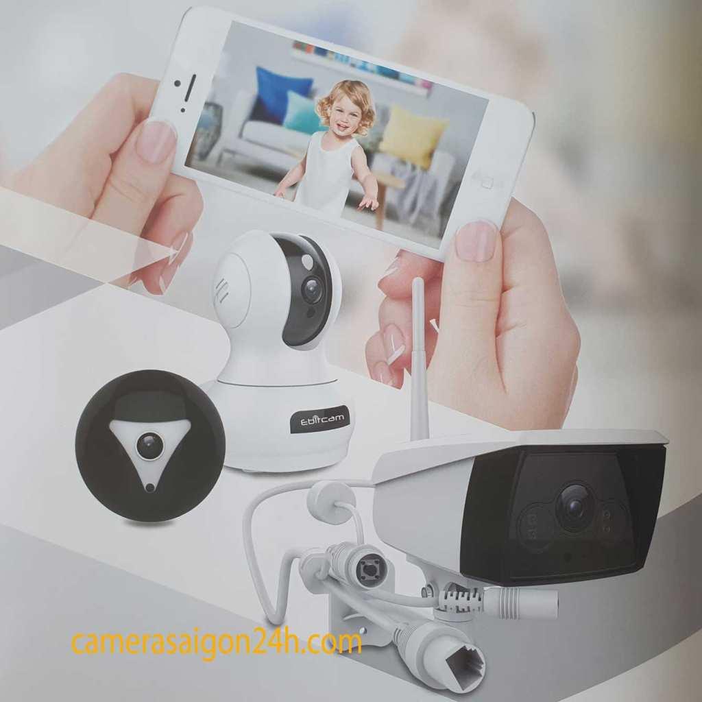 CAMERA EBITCAM EB02 ( 2MP ) Tặng thẻ 32GB Chính hãng Camera wifi Ebitcam EB03 là dòng sản phẩm camera quan sát chuyên lắp ngoài trời, kết nối không dây Wifi của hãng Ebit. Tất cả các sản phẩm đều có mã QR