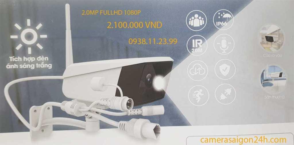 Camera IP WIFI EB02 EBITCAM NGOÀI TRỜI 2.0MP Full HD CAMERA EBITCAM NGOÀI TRỜI EB02 : CAMERA IP WIFI NGOÀI TRỜI (CÓ ĐÈN ÁNH SÁNG TRẮNG) ĐỘ PHÂN GIẢI 2.0 Megapixel, Đèn ánh sáng trắng tự