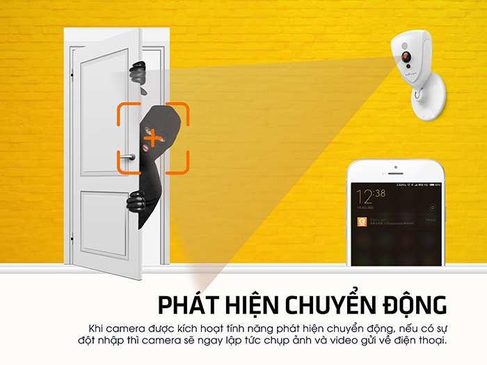 Camera Ebitcam EBF4 Cube IP Wifi Full HD 2MP EBITCAM EBF4 là Camera IP Wifi chuyên dùng lắp đặt trong nhà. Sở hữu nhiều tiện ích như hình ảnh 1080P, đàm thoại 2