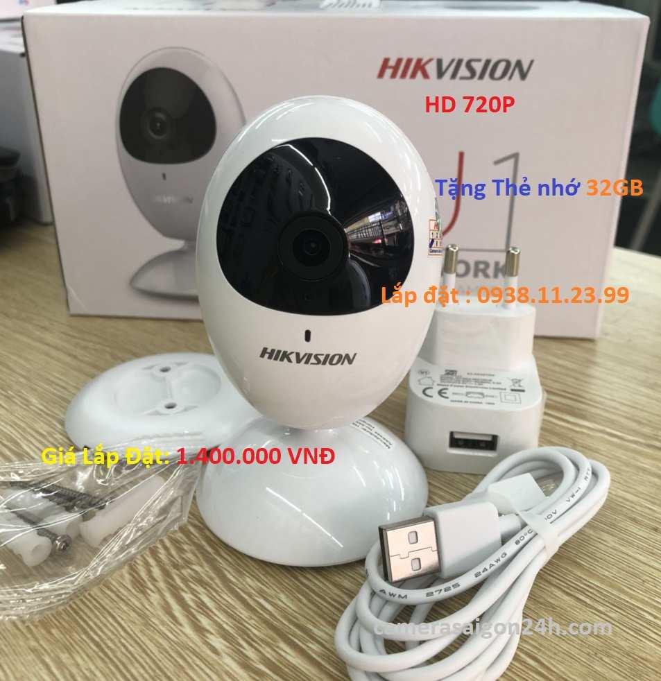 Lắp camera wifi giá rẻ chính hãng DS-2CV2U01EFD-IW