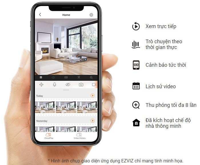 Lắp camera wifi ezviz C6N giám sát qua diện thoại giá rẻ