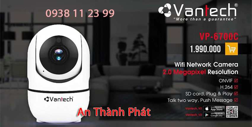 Lắp camera wifi giá rẻ vanteh chất lượng báo giá camera wifi vantech uy tín