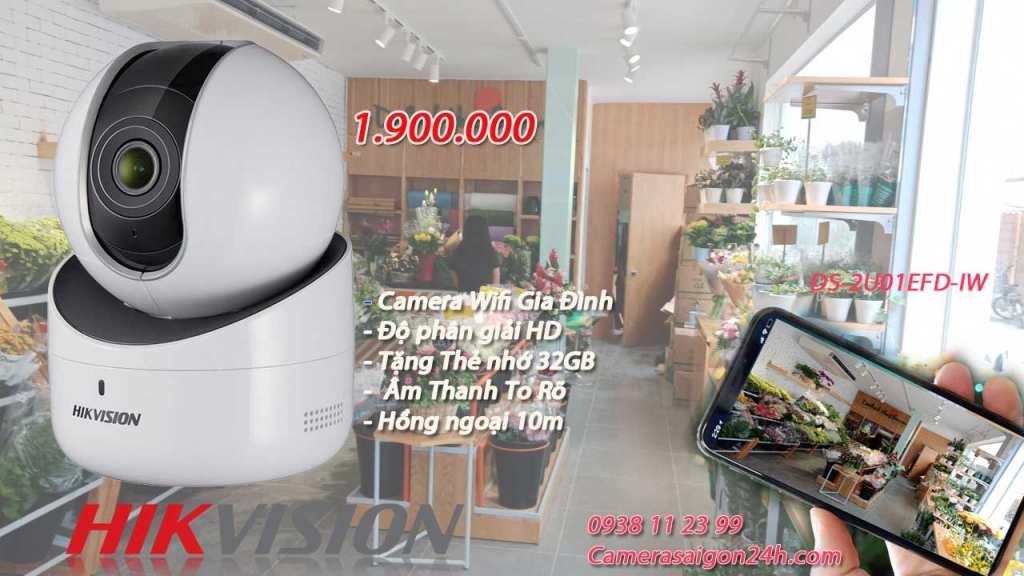 Lắp camera wifi hikvision giá rẻ cho cửa hàng