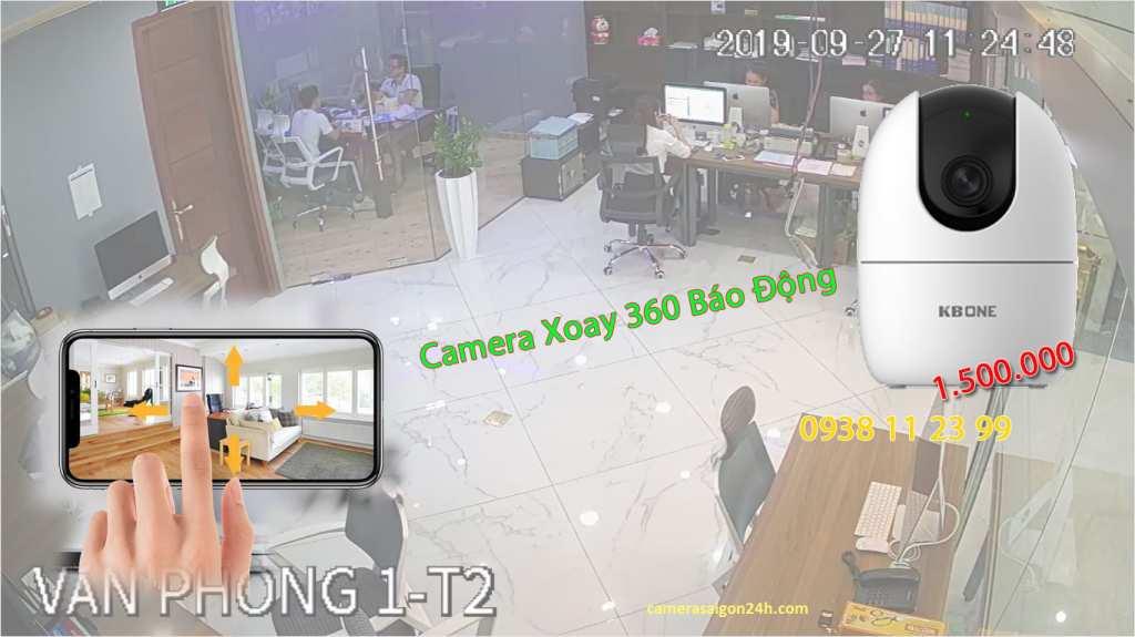 lắp camera wifi xoay 360 giá rẻ tích hợp báo động chống trộm