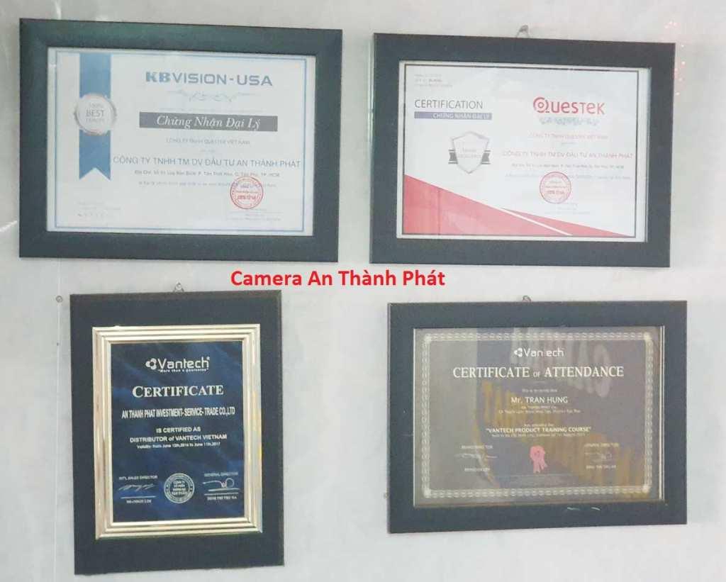 chứng nhận phân phối camera quan sát chính hãng An Thành Phát