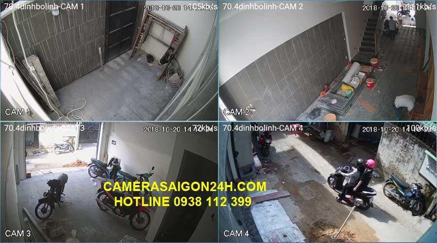 công trình thực tế lắp camera tại nhà  công ty An Thành Phát