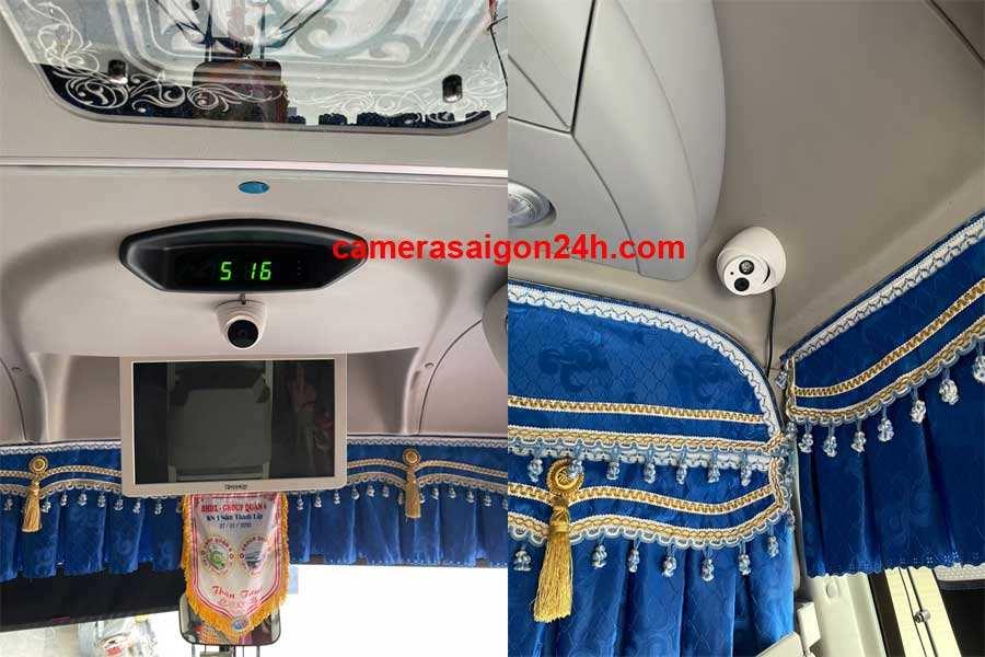 hình ảnh công trình thực tế lắp đặt camera trên xe khách,xe công công ty An Thành Phát