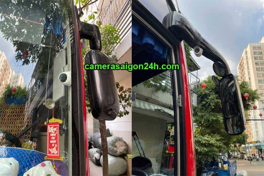 hình ảnh công trình thực tế lắp đặt camera trên xe khách công ty An Thành Phát