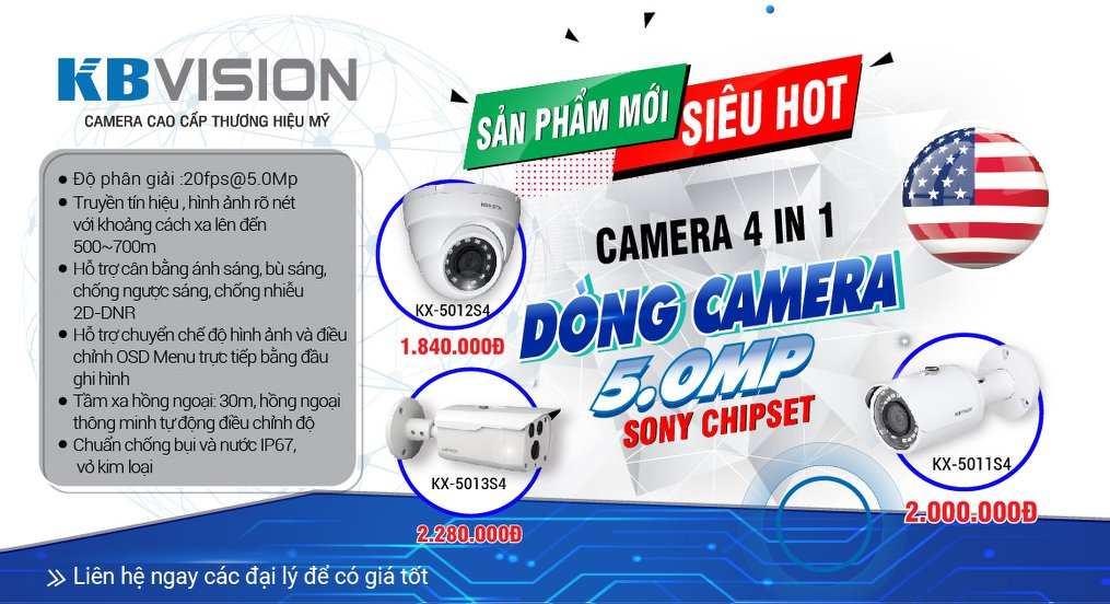 bảng báo giá camera kbvision chất lượng