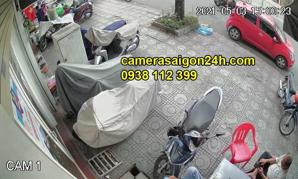 Hình ảnh ghi hình thực tế của camera báo động có đèn KBVISION KX-C2001C.PIR