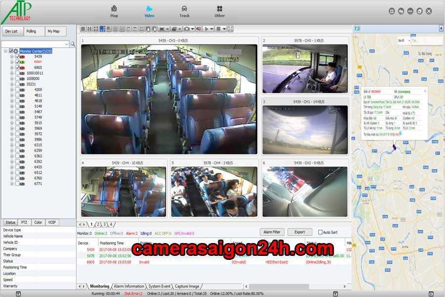 ghi hình thực tế camera giám sát cho ô tô khách