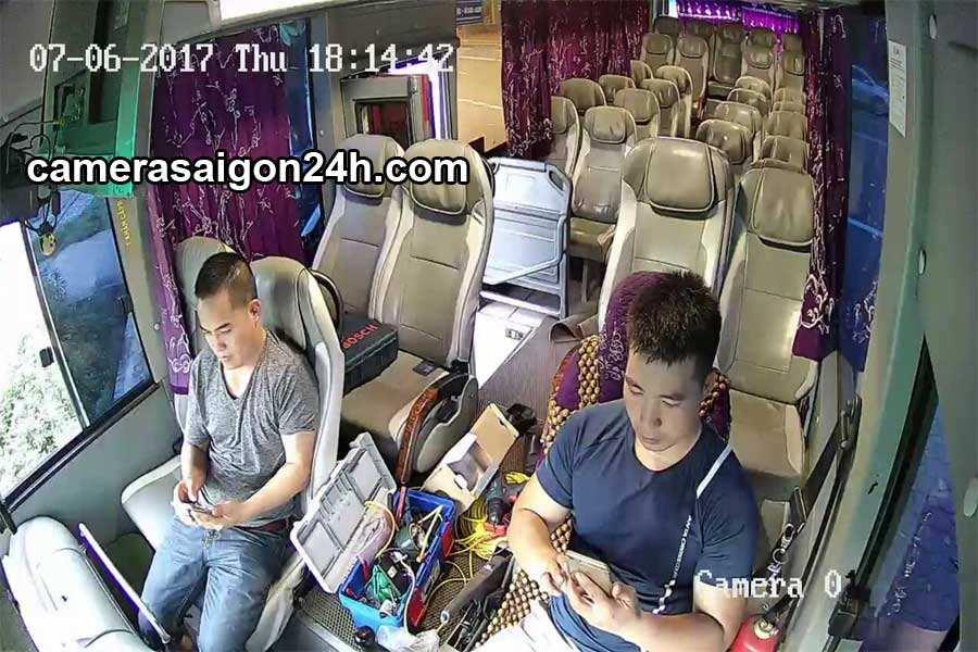 hình ảnh ghi hình thực tế của camera giám sát cho xe khách