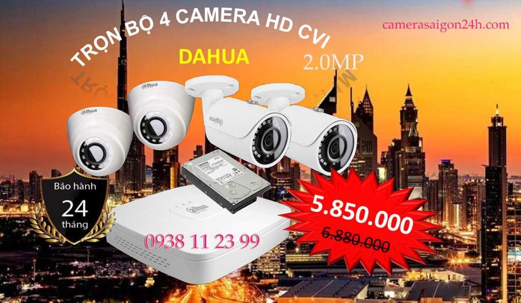 lắp camera giám sát văn phòng trọn bộ Dahua