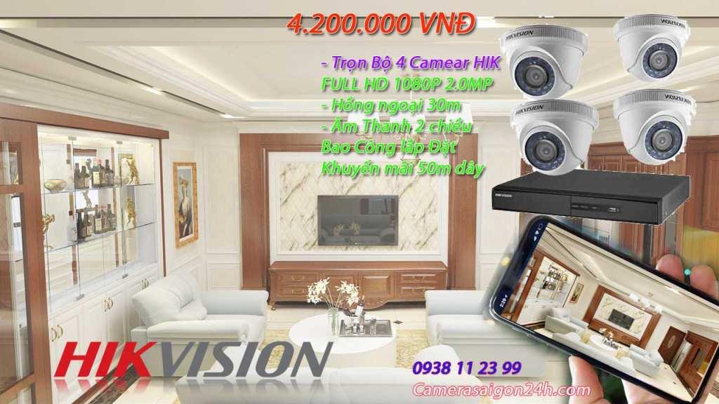 Lắp đặt camera hikvision cho gia đình