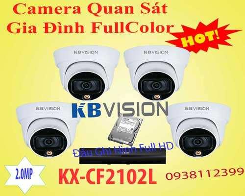 bộ camera full color kx-cf2102l chính hãng giá rẻ độ phân giải 2.0 MP