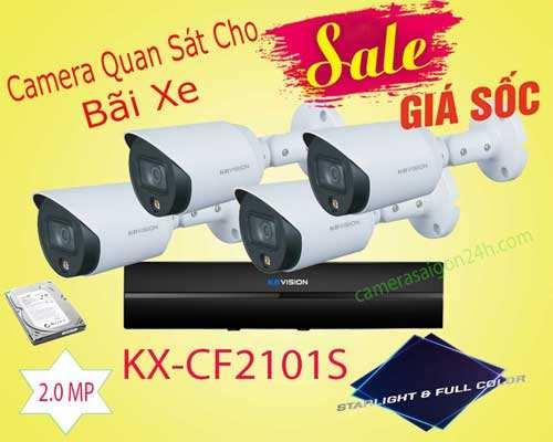BỘ CAMERA QUAN SÁT CÔNG NGHỆ FULL COLOR KBVISION KX-CF2101S chính hãng, độ phân giải 2.0 MP