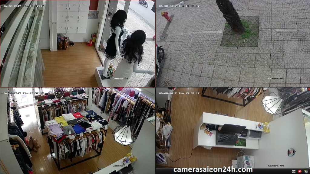 lắp đặt camera giám sát cửa hàng chất lượng