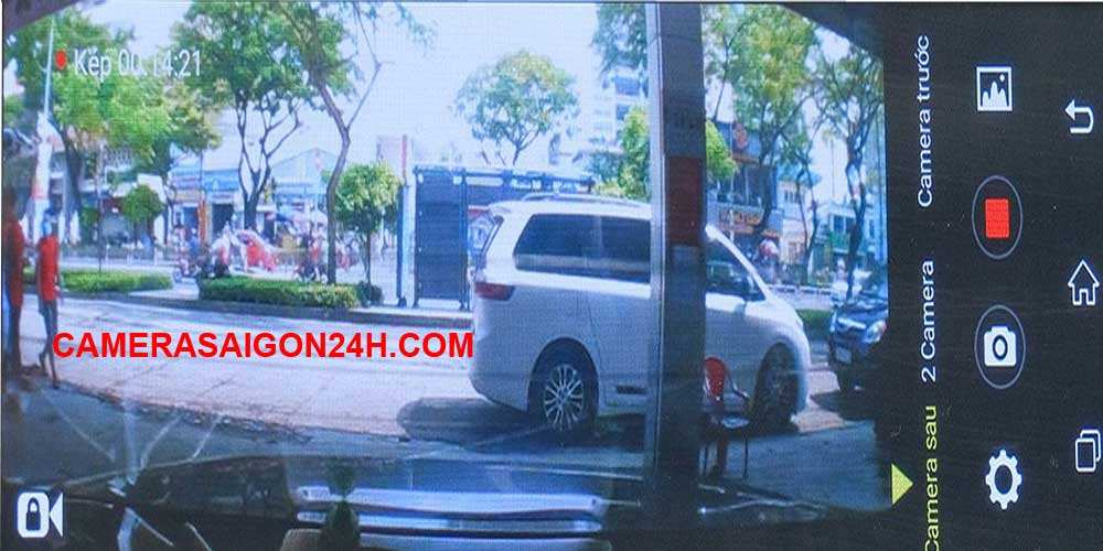 hình ảnh thực tế của camera giám sát ô tô, xe container